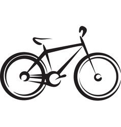 with a bike symbol vector image vector image