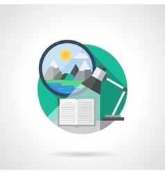 Traveler journal color detailed icon vector