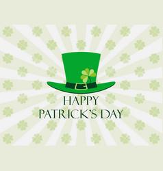 Happy st patricks day leprechaun hat vector