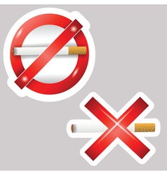 Burning cigarettes vector