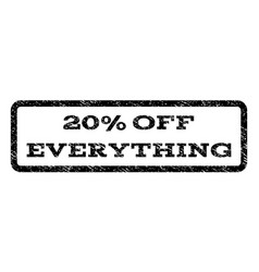 20 percent off everything watermark stamp vector
