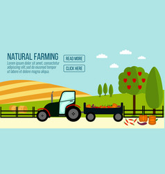 Natural farming banner vector
