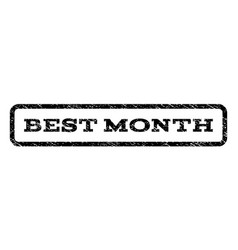 best month watermark stamp vector image