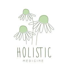 Holistic medicine logo symbol vector