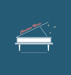 Logo christian music vector