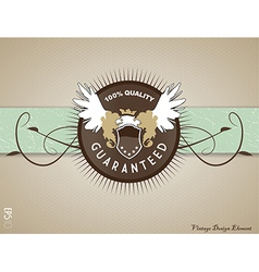 Retro vintage label on doted background vector
