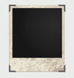 Grunge photo frame vector