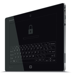 Tablet Right Side View Vertical vector image