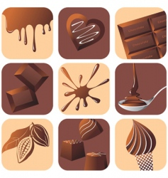 chocolate design icons vector image