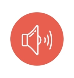 Loudspeaker thin line icon vector