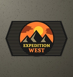 Expedition badge vector