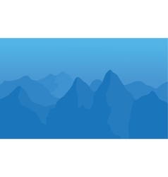Silhouette of snow in mountains vector