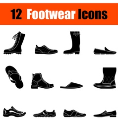 Set of mans footwear icons vector