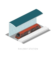 Isometric of subway train vector