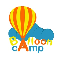Balloon camp emblem vector