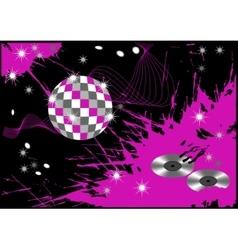 Abstract disco blot background vector