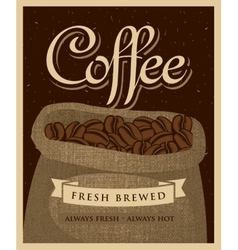 Bag of fabric coffee beans vector