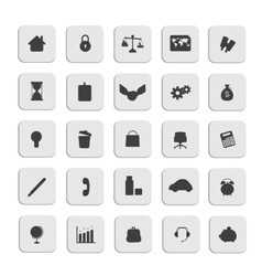 black business web icons set vector image