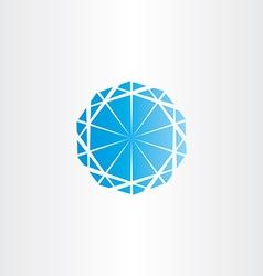 Blue diamond icon vector