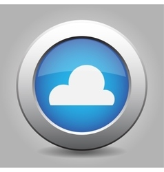 blue metal button with weather - cloudy vector image
