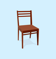 chair wood classic detailed single object vector image vector image