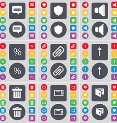 Chat bubble badge sound percent clip arrow up vector