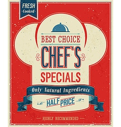 Chefs special color vector