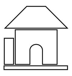 Childrens playhouse icon cartoon style vector