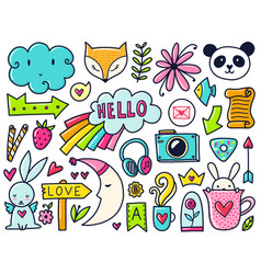 Color doodles vector