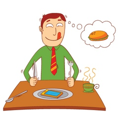 eating a smartphone vector image