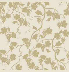 floral seamless pattern with grape branch vector image vector image
