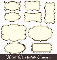 Frames design vector image vector image