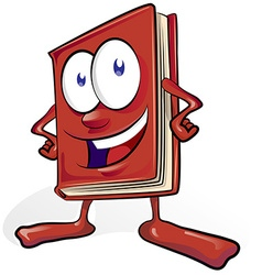 fun book cartoon vector image