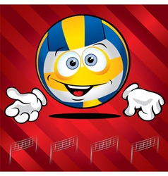 Funny smiling volley ball vector