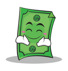Happy face dollar character cartoon style vector