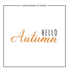 Hello autumn text vector