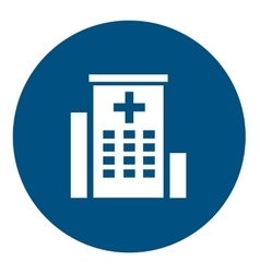 Hospital medical icon vector