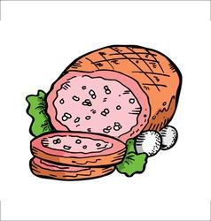 leg of ham vector image vector image