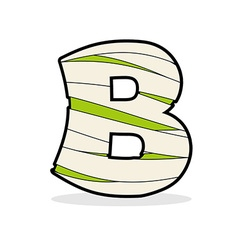 Letter B Monster zombie Alphabetical icon medical vector image vector image