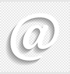 Mail sign white icon with vector