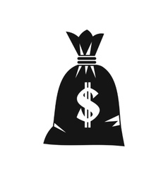 Money bag icon simple style vector image vector image