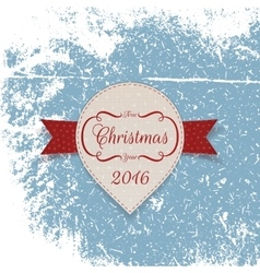 New year white paper label with red ribbon vector