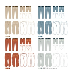 Pants fashion set vector image vector image