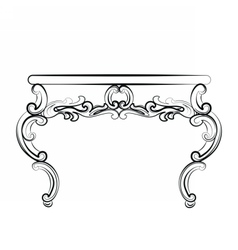 Royal table in baroque rococo style vector