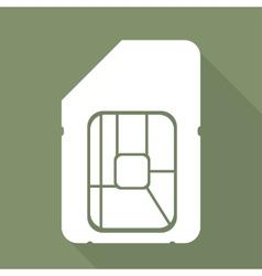 Sim card web icon vector