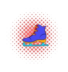 Skates icon comics style vector image vector image
