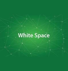 Text white space in design and vector