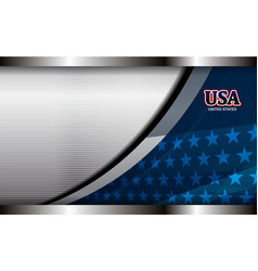 Usa metal background vector