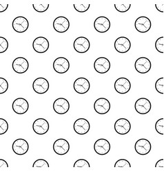 Wall clock pattern vector
