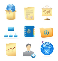 Icons for business metaphor vector